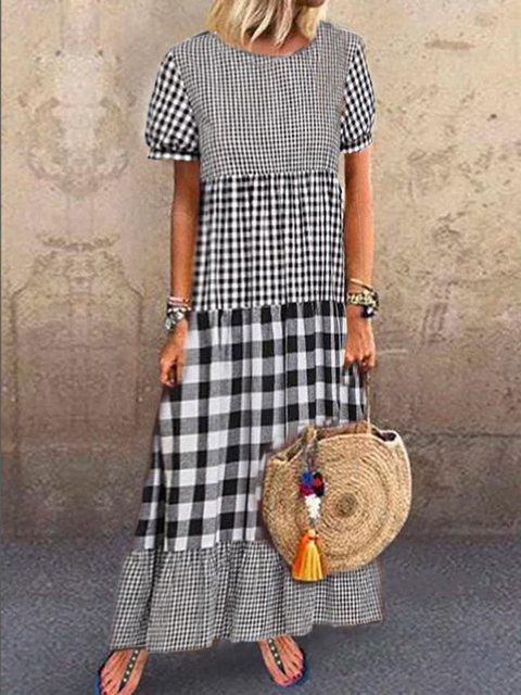 Short Sleeve Shift Dresses