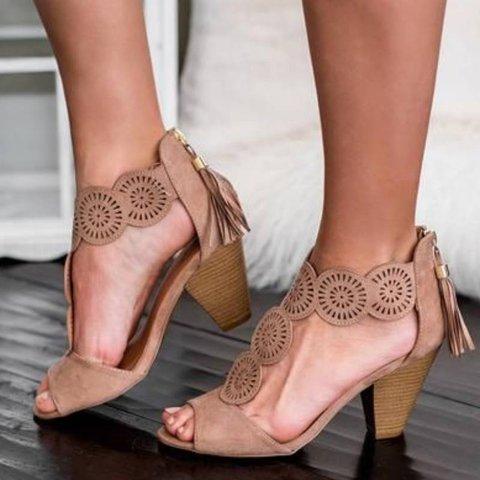 Women Comfy Slip-on Heel Shoes