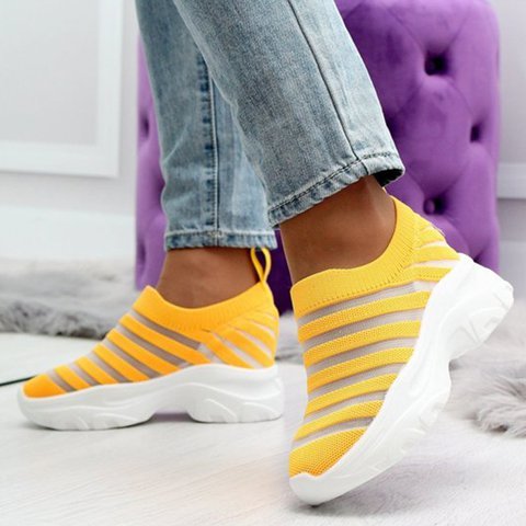 Wedge Heel Comfy Sole Slip On Sneakers