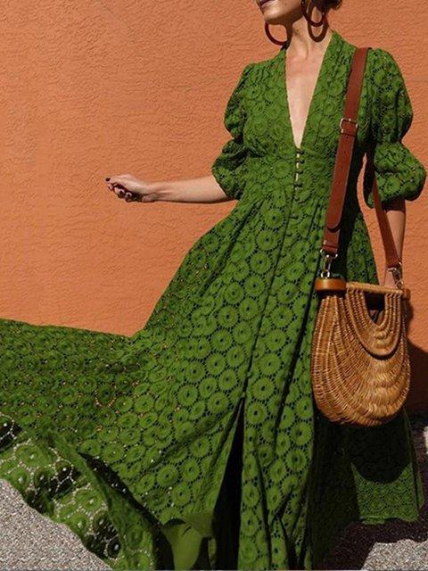 Green Dresses A-Line Date Elegant Paneled Dresses