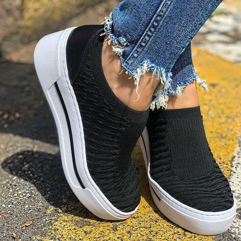 Womens Slip-On Sneakers Mesh Casual Footwears