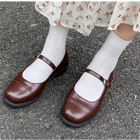 Pu Low Heel Adjustable Buckle Loafers  Womens Casual Shoes