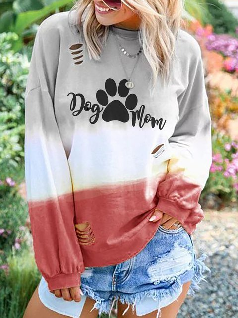 Plus Size Long Sleeve Sweet Letter Printed Sweatshirts