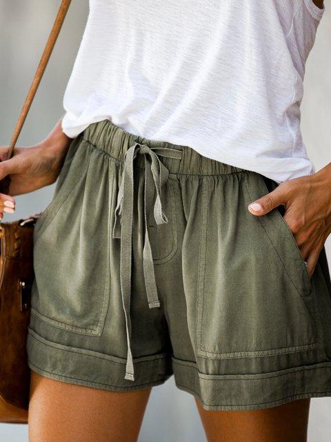 Casual Pockets Pants