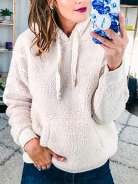 Pocket Drawstring Hoodie Casual Sweatshirts