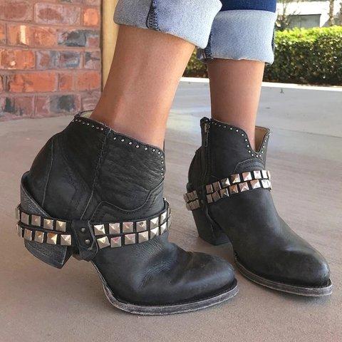 31a0c09d862 Pu All Season Chunky Heel Boots