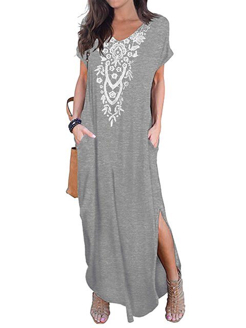V Neck Women Casual Dresses Date Casual Dresses