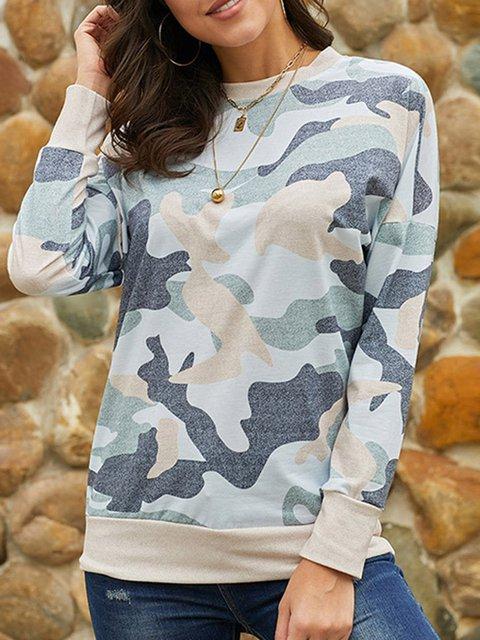 Casual Long Sleeve Cotton-Blend Hoodies