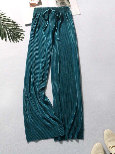 Velvet Casual Striped Pants
