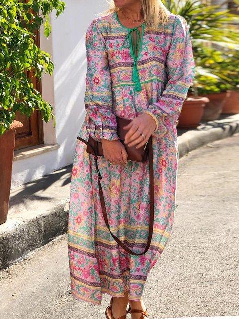 Casual Plus size Bohemian Dress