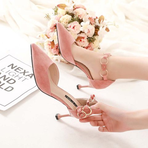 Date Pointed Toe Stiletto Heel Buckle Pumps