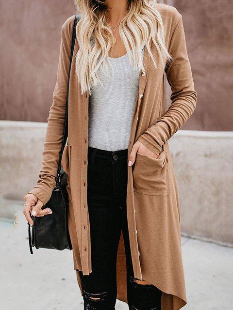 Casual Basic Long Sleeve Basic Outerwear