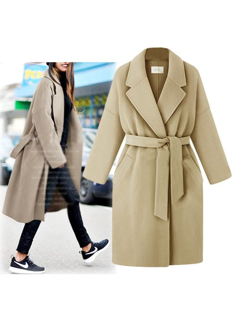 Casual Basic Long Sleeve Outerwear