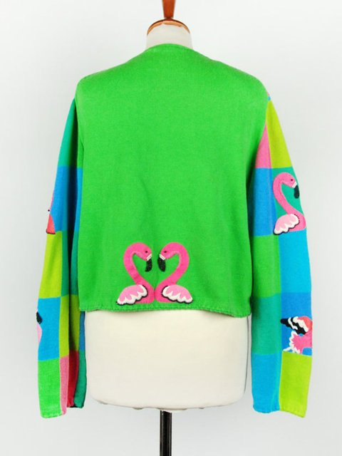 Plus size loose collar print casual jacket