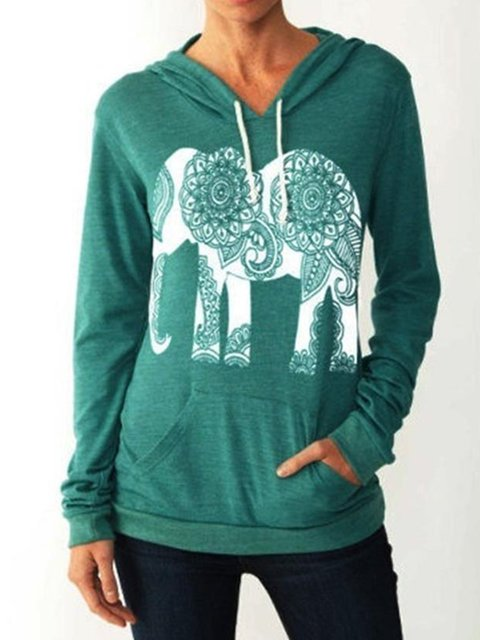 Long Sleeve Acrylic Animal Shirts & Tops