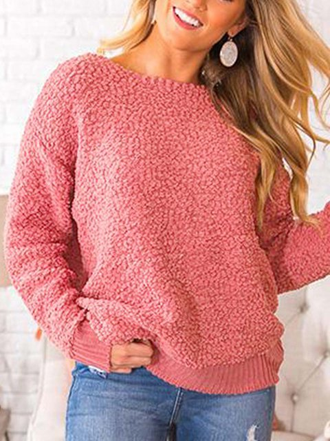 Casual Long Sleeve Backless Tops