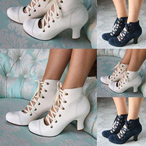 Women Fashion Lace Up Wedding High Heel Shoes
