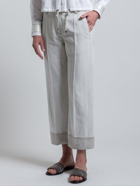 Cotton Pockets Solid Paneled Holiday Pants