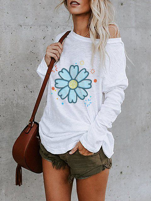 Casual Crew Neck Cotton Shirts & Tops