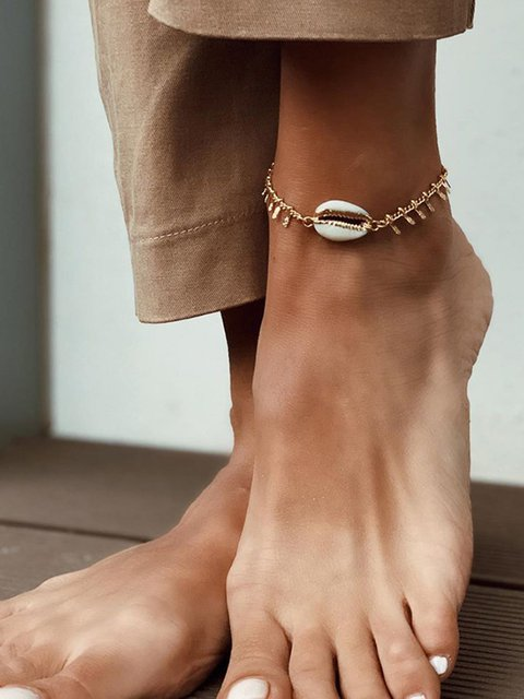Chains Beach Metal Shell Anklet
