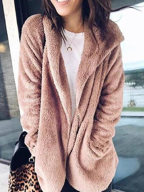 Long Sleeve Pockets Outerwear