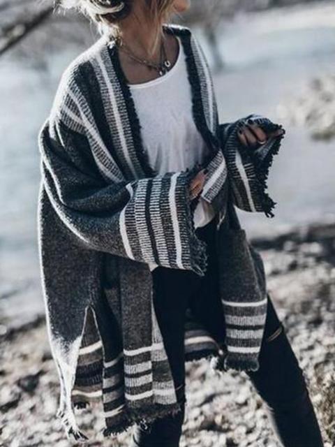 Shift Long Sleeve Striped Outerwear