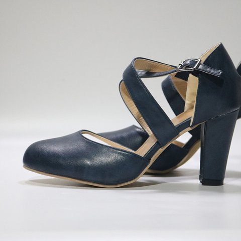 Cross Buckle Strap Closed Toe Elegant High Heels