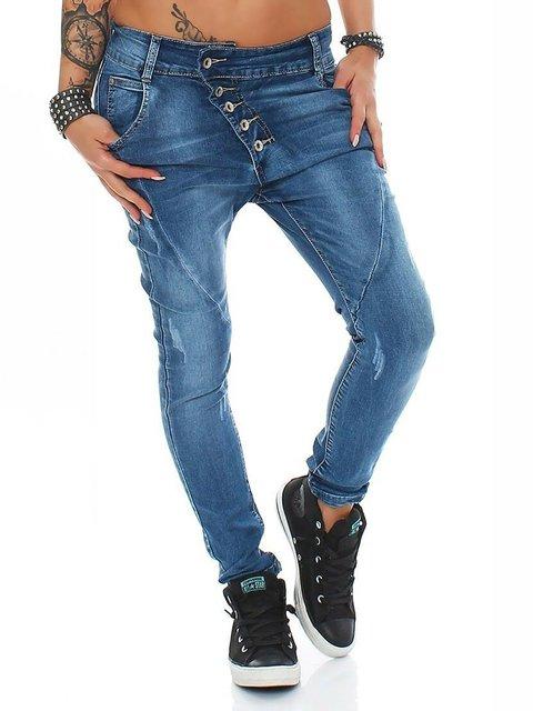 Aysmmetrical Plus Size Denim Pants Jeans