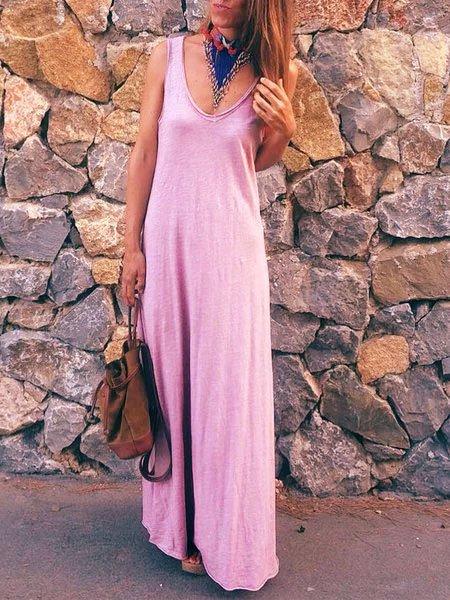 Bohemian casual cotton sleeveless dress