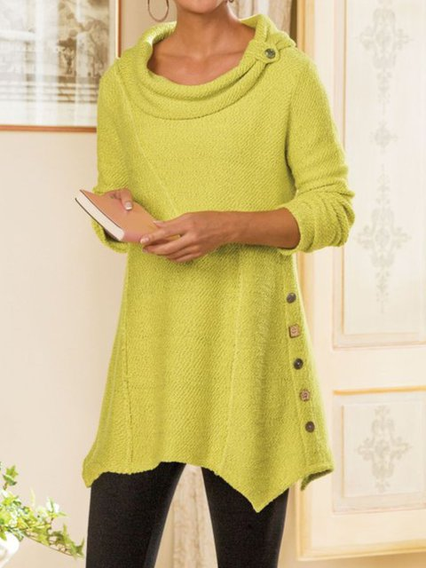 Women Casual Cowl Neck Tops Tunic