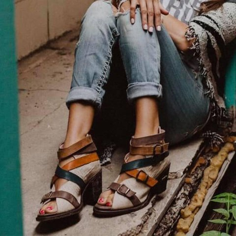 Peep Toe Daily Sandals Boots