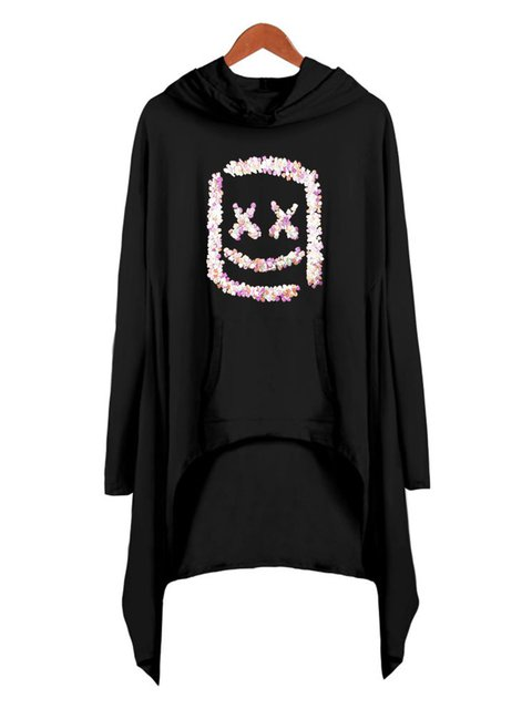 Printed Long Sleeve Outdoor Abstract Outerwear