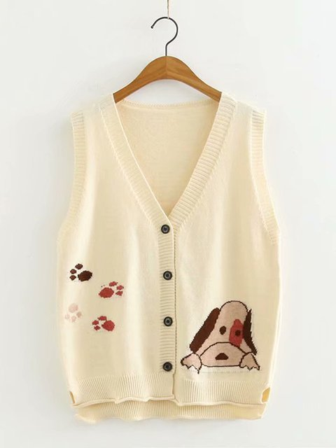Casual Knitted Daily Sleeveless Outerwear
