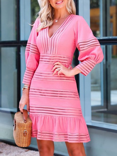Long Sleeve  A-Line Daytime Dresses