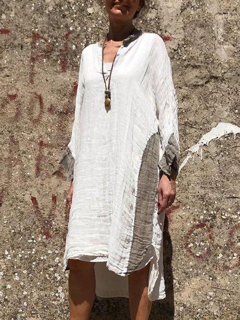 Midi Long Sleeve Shift Daytime Dresses