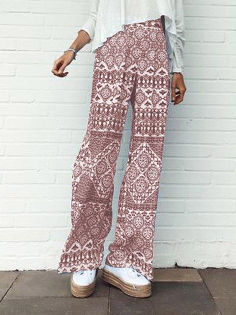 Floral-Print Holiday Tribal Pants