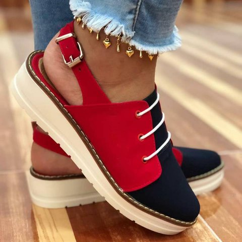 Women Casual Faux Seude Slingback Comfy Sneakers