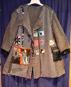 Women Gray Casual Patchwork Tweed Outerwear