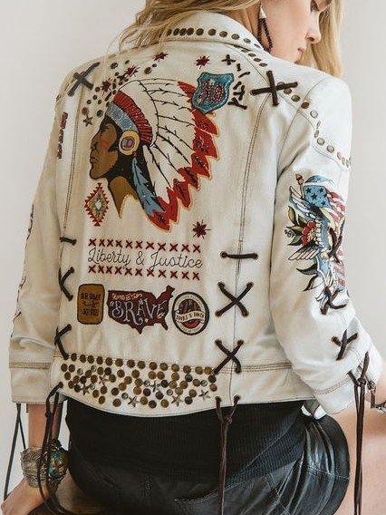 Boho Leather Jacket