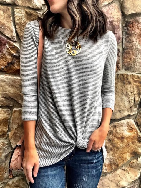 Striped Casual Long Sleeve Sweaters