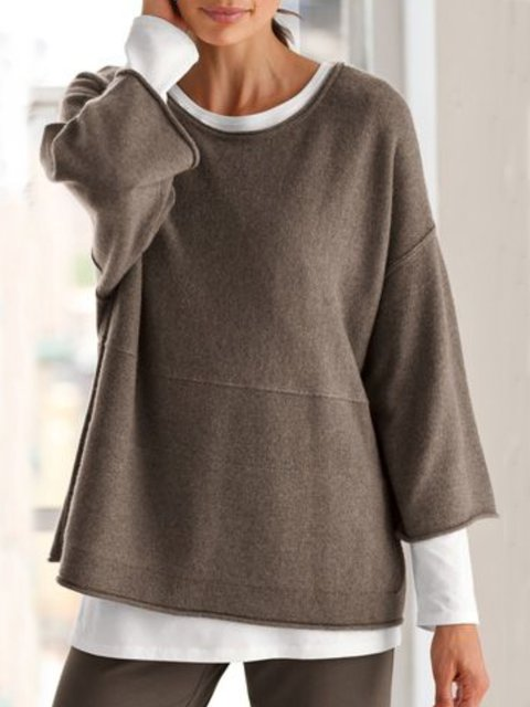 Plain Casual Thin Sweater