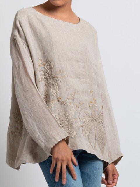 Natural Linen Casual Shirts & Tops