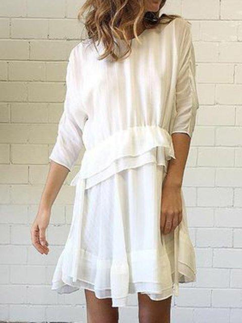 Women Casual Dresses Holiday Boho Ruffled Dresses