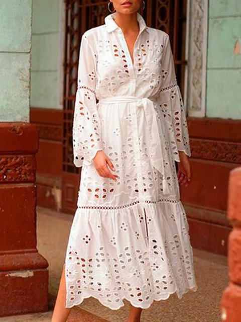 Women Elegant Dresses Holiday Boho Cotton-Blend Dresses