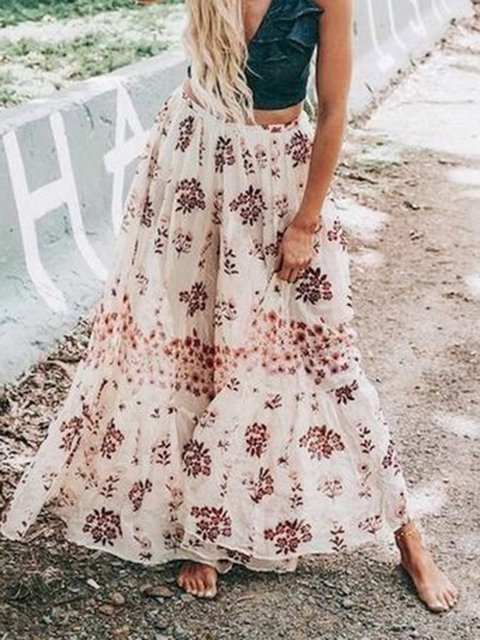 Holiday Floral-Print Cotton-Blend Floral Skirts