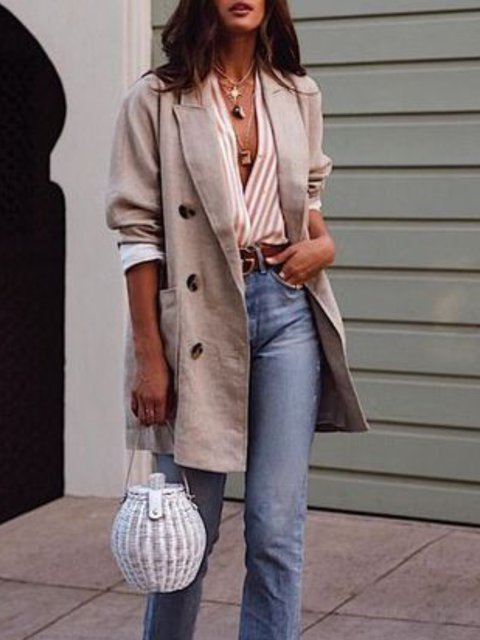 Casual V Neck Long Sleeve Solid Coat