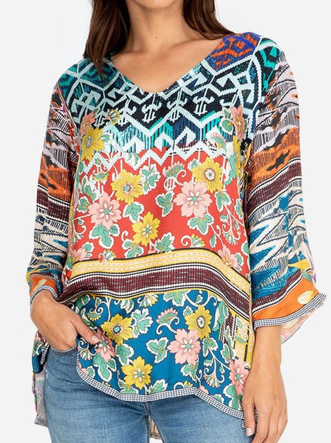 Boho Geometric Shirts & Tops