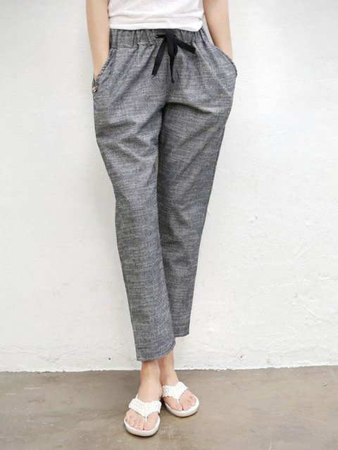 Cotton Paneled Casual Pants
