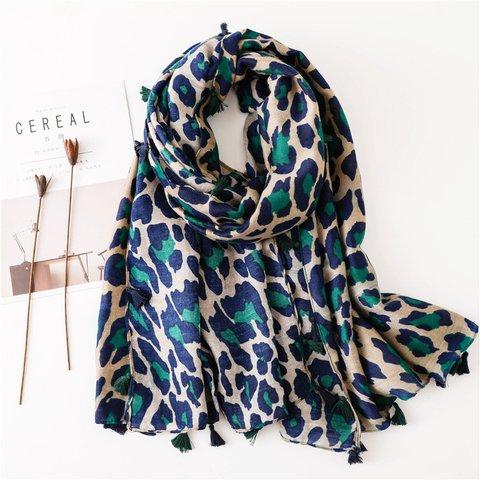 Leopard Print Sweet Printed Scarves & Shawls