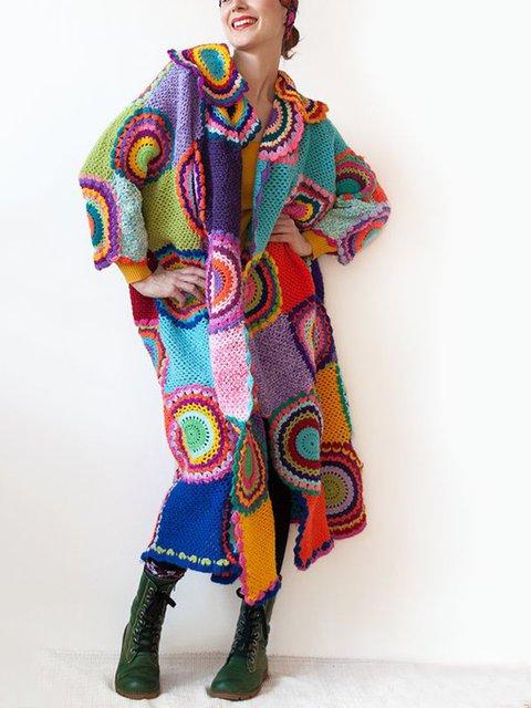 Acrylic Long Sleeve Outerwear
